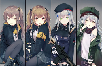 обоя аниме, girls frontline, девушки