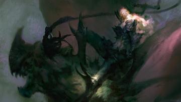 обоя фэнтези, нежить, монстр, шипы, человек
