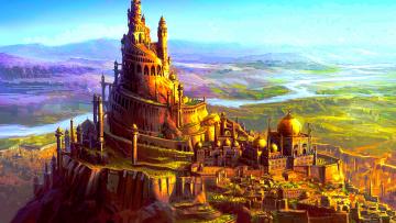 обоя фэнтези, замки, замок