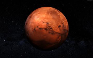 обоя космос, марс, красная, планета, в, космосе