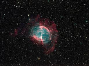 Картинка m27 космос галактики туманности