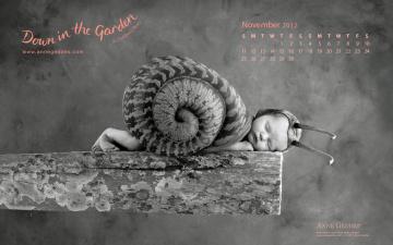Картинка календари дети ноябрь улитка