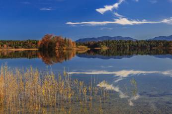 Картинка oster lakes bavaria germany природа реки озера отражение горы германия озеро осень лес бавария