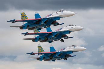 Картинка авиация боевые+самолёты истребитель-перехватчик су-27п русские витязи сухой су-27 истребители