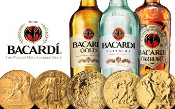 обоя бренды, bacardi, медали