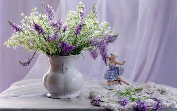 обоя цветы, букеты,  композиции, статуэтка, букет