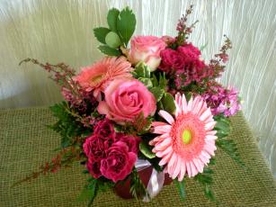 Картинка цветы букеты композиции букет розы герберы