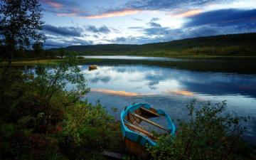обоя корабли, лодки,  шлюпки, лето, деревья, река