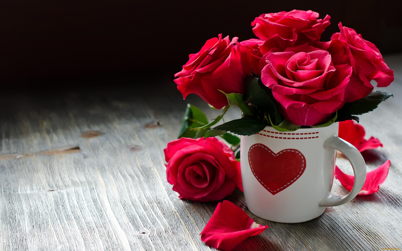 Днем рождения, красивые открытки цветы любимой