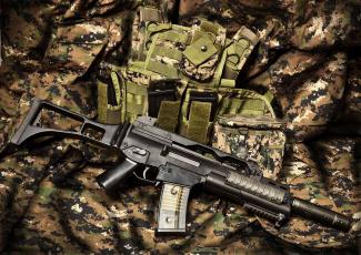 Картинка оружие автоматы hk g36c штурмовая винтовка автомат камуфляж
