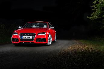 Картинка автомобили audi rs 7 sportback uk-spec 2013г красный