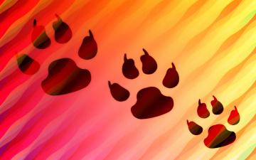 обоя векторная графика, животные , animals, след