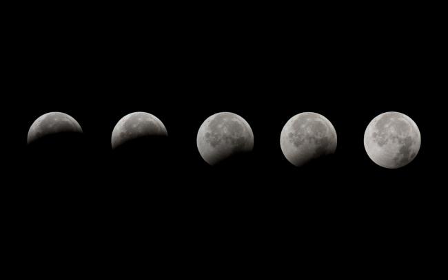 Обои картинки фото космос, луна, зон
