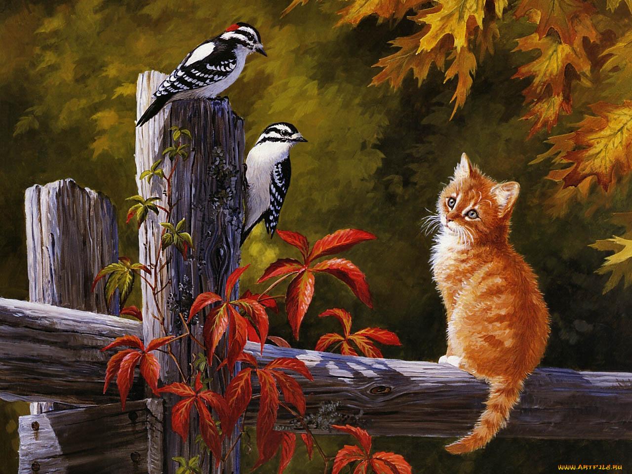 Нарисованные картинки с животными