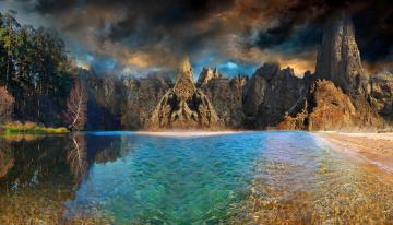 Картинка природа реки озера горы небо пейзаж озеро