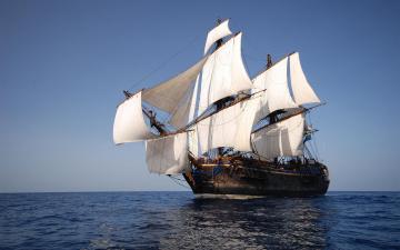 Картинка корабли парусники паруса парусник судно вода океан мачты