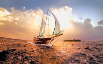 обоя корабли, парусники, судно, парусник, вода, океан, мачты, паруса
