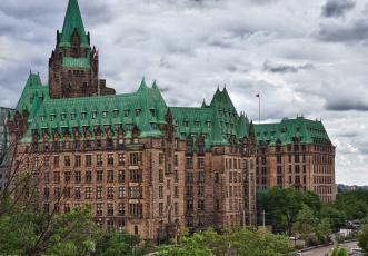 обоя города, оттава, канада, здание, парламент