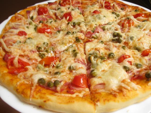 Рецепты пиццы духовке с колбасой фото