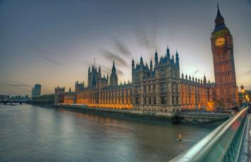 обоя города, лондон , великобритания, река, мост