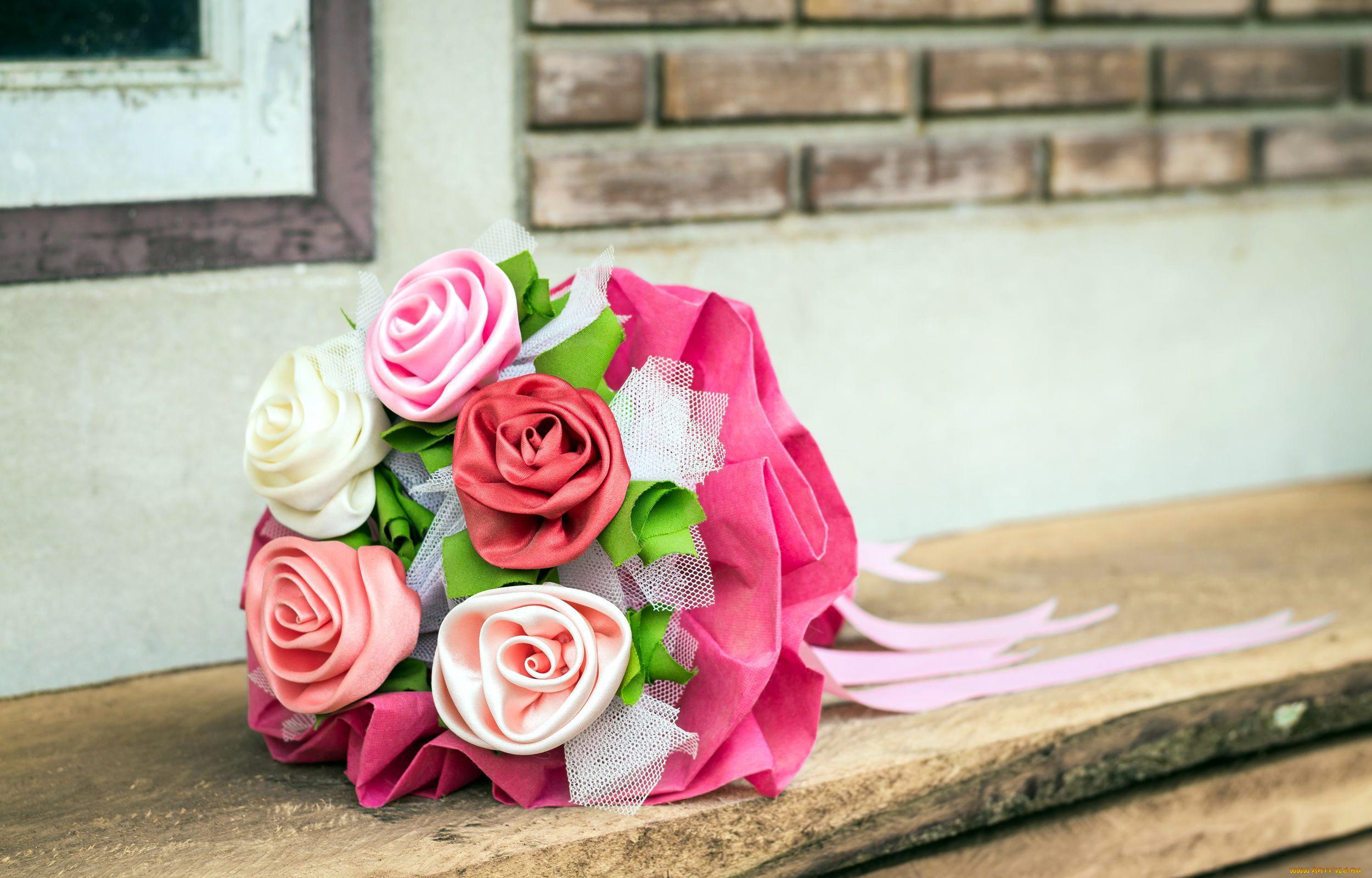 Ткани букет роз
