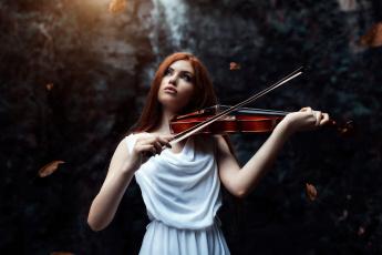 обоя музыка, - другое, девушка, взгляд, фон