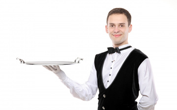 обоя мужчины, - unsort, официант