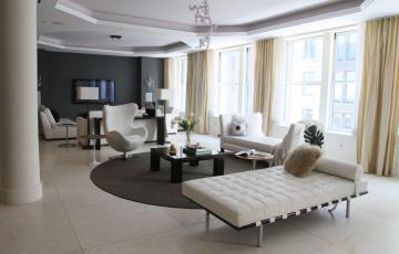 обоя интерьер, гостиная, диван, стол, комната