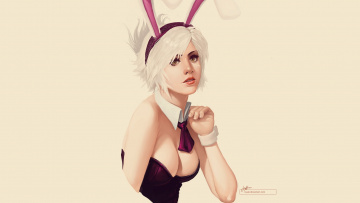 Картинка league of legends видео игры bunny riven