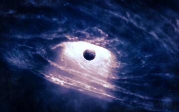 Картинка космос Черные дыры планета черная дыра
