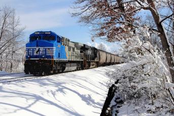 Картинка техника поезда локомотив состав рельсы