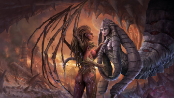 Картинка starcraft ii heart of the swarm видео игры kerrigan izsha