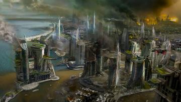 обоя фэнтези, иные миры,  иные времена, город, война