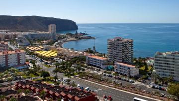 Картинка испания канарские острова teneriffa арона города панорамы дома дорога море
