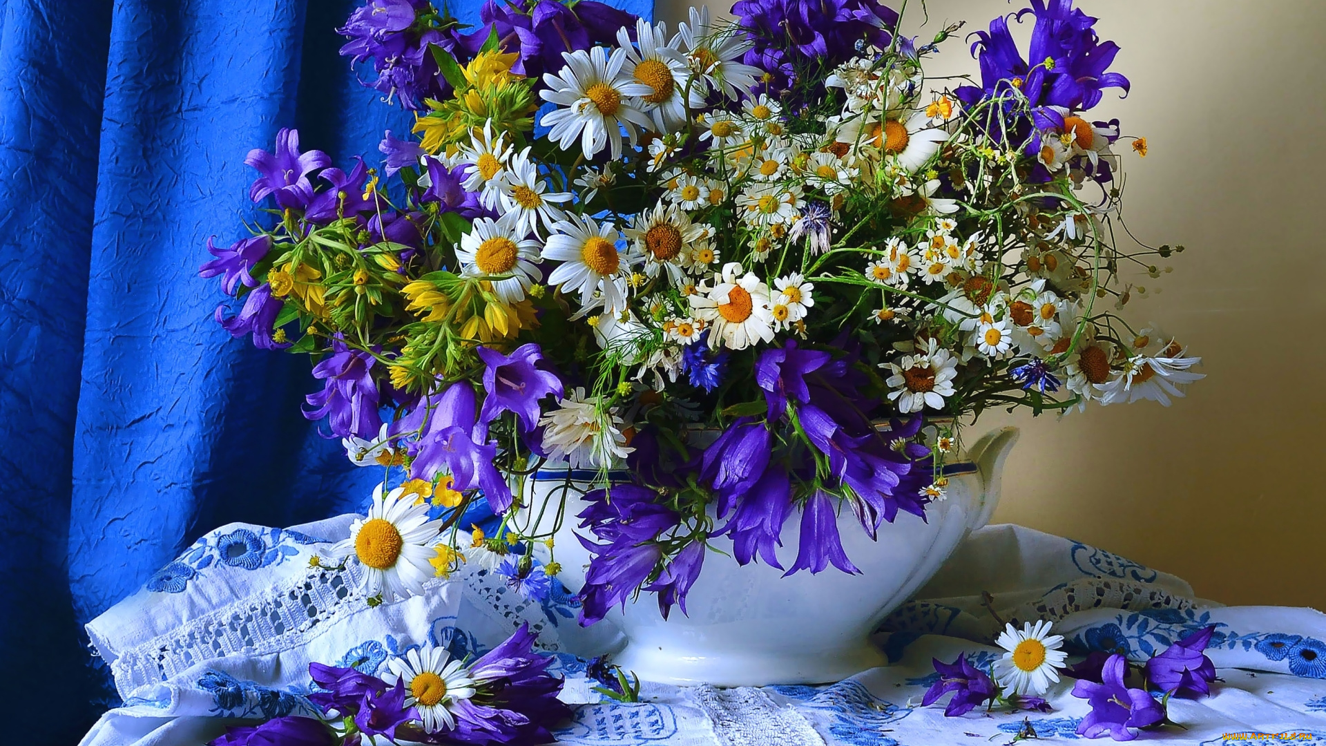 Картинки с днем рождения полевые цветы