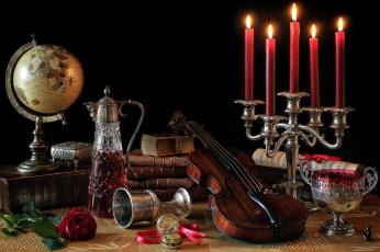 обоя музыка, -музыкальные инструменты, натюрморт