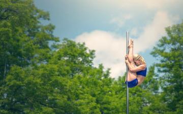 обоя спорт, гимнастика, акробатика, шест, растяжка, marie-cecile