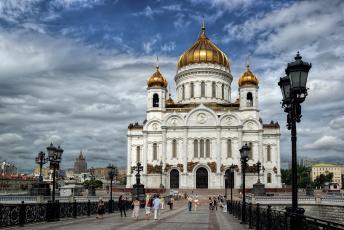 обоя cathedral of christ the saviour, города, москва , россия, храм