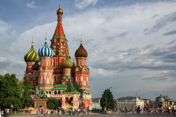 обоя saint basil`s cathedral, города, москва , россия, храм