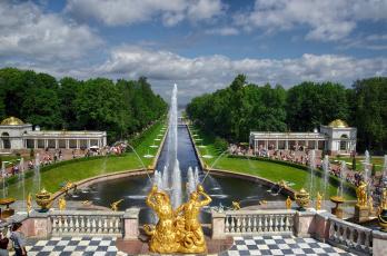 обоя samson fountain, города, санкт-петербург,  петергоф , россия, фонтан