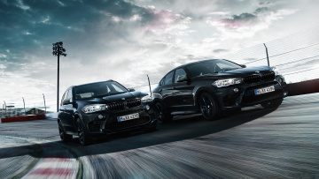 Картинка bmw+x5-m+and+x6-m+black+fire+edition+2018 автомобили bmw x5-m x6-m black fire edition 2018