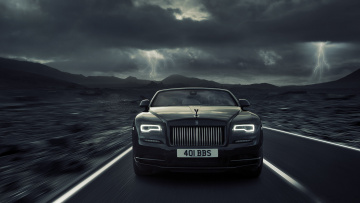 обоя rolls-royce dawn black badge 2018, автомобили, rolls-royce, dawn, black, badge, 2018