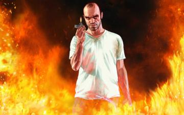 обоя рисованное, кино, пожар, огонь, зажигалка, мужчина