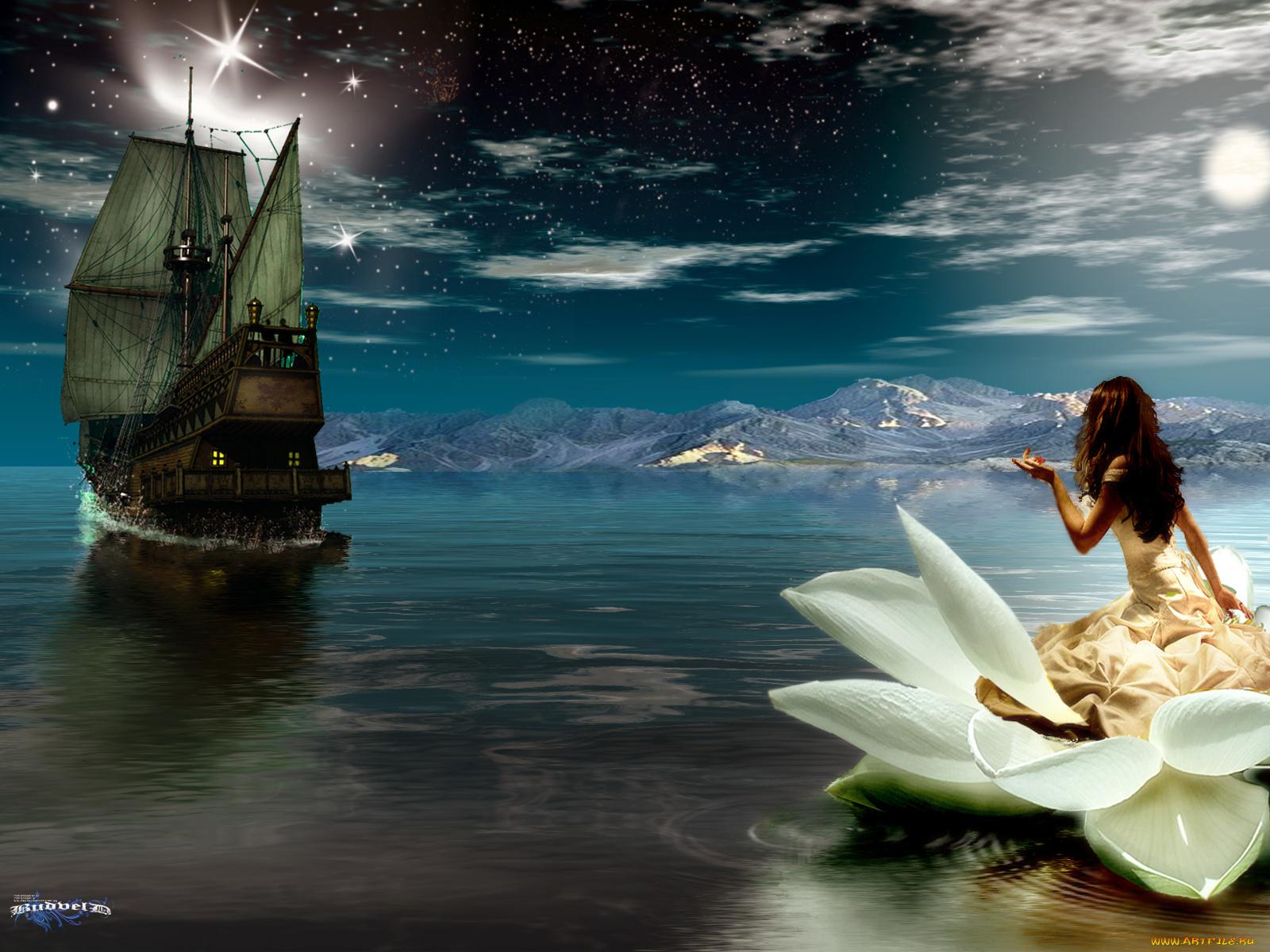 Фото девушка ждет корабль