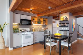 обоя интерьер, кухня, стиль, дизайн, уют