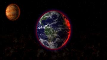 Картинка from space космос арт простанство луна земля