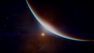 Картинка космос арт пространство звезды планета