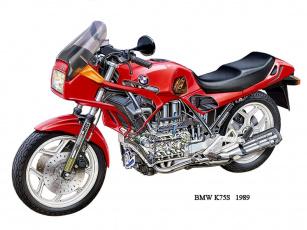 обоя bmw, k75s, мотоциклы