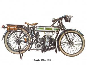 обоя douglas, 350, мотоциклы, рисованные