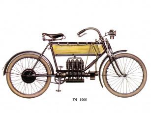 обоя fn, 1905, мотоциклы, рисованные